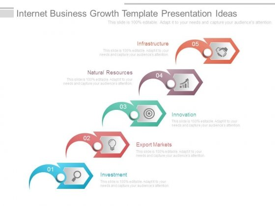Internet Business Growth Template Presentation Ideas