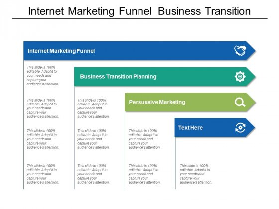 Internet Marketing Funnel Business Transition Planning Persuasive Marketing Ppt PowerPoint Presentation Ideas Graphics Template