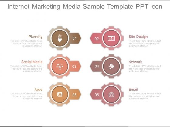 Internet Marketing Media Sample Template Ppt Icon