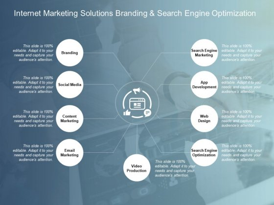 Internet Marketing Solutions Branding And Search Engine Optimization Ppt PowerPoint Presentation Infographics Images
