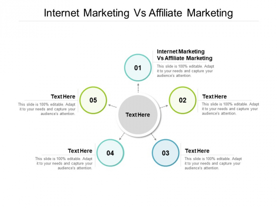 Internet Marketing Vs Affiliate Marketing Ppt PowerPoint Presentation Infographic Template Images Cpb