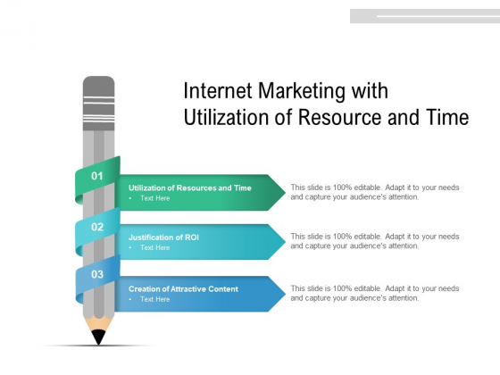 Internet Marketing With Utilization Of Resource And Time Ppt PowerPoint Presentation Gallery Graphics Pictures PDF