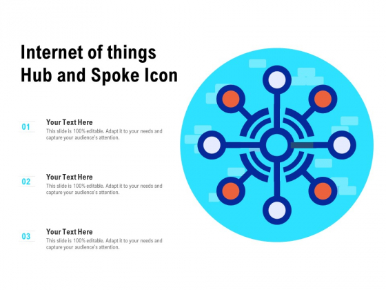 Internet Of Things Hub And Spoke Icon Ppt Professional Information PDF