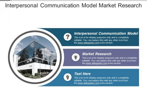 Interpersonal Communication Model Market Research Ppt PowerPoint Presentation Layouts Ideas