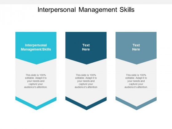 Interpersonal Management Skills Ppt PowerPoint Presentation Slides Cpb