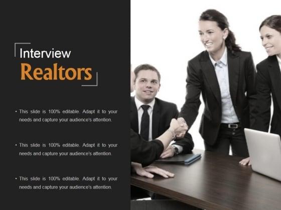 Interview Realtors Ppt PowerPoint Presentation Diagrams