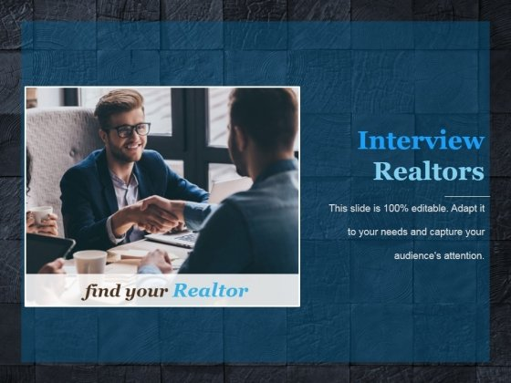 Interview Realtors Ppt PowerPoint Presentation Icon