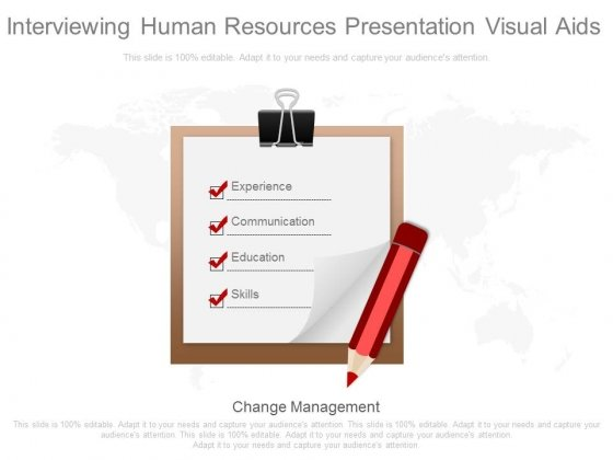 Interviewing Human Resources Presentation Visual Aids