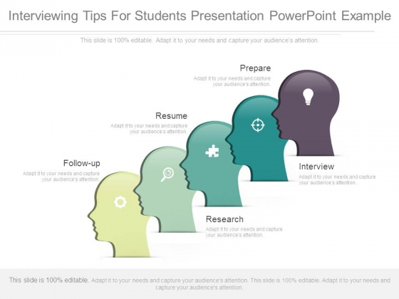 Interviewing Tips For Students Presentation Powerpoint Example