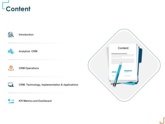 Introducing CRM Framework Within Organization Content Ppt PowerPoint Presentation Inspiration Portrait PDF