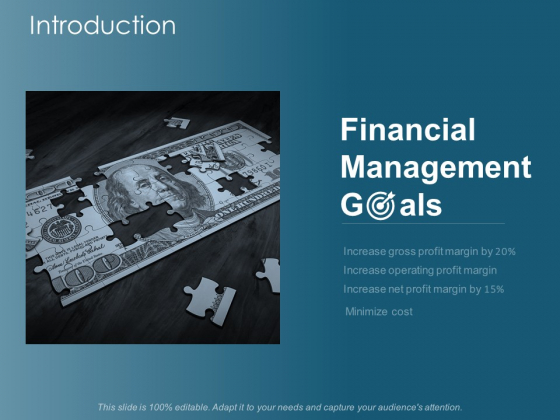 Introduction Financial Management Goals Ppt Powerpoint Presentation File Example