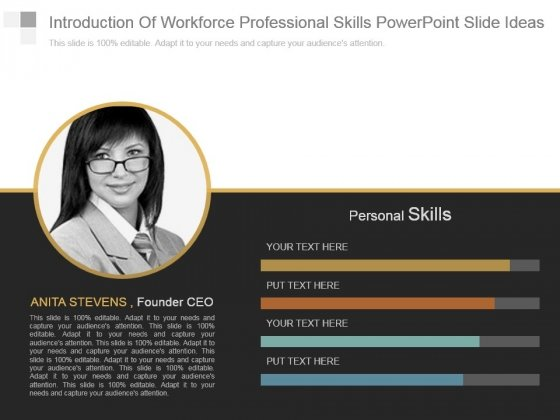 Introduction Of Workforce Professional Skills Powerpoint Slide Ideas