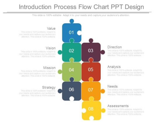 Introduction Process Flow Chart Ppt Design