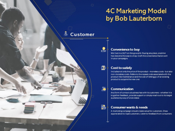 Introduction To Digital Marketing Models 4C Marketing Model By Bob Lauterborn Ppt Summary Gallery PDF