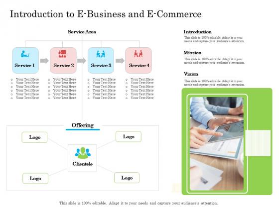 Introduction To E Business And E Commerce Ppt Portfolio Design Ideas PDF