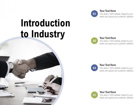 Introduction To Industry Ppt PowerPoint Presentation Infographic Template Mockup