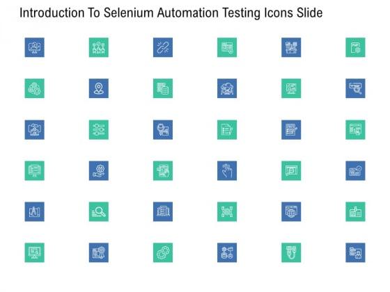 Introduction To Selenium Automation Testing Introduction To Selenium Automation Testing Icons Slide Professional PDF