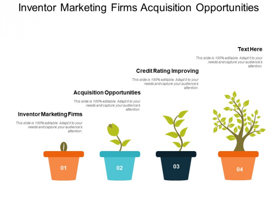 Inventor Marketing Firms Acquisition Opportunities Credit Rating Improving Ppt PowerPoint Presentation Icon Designs Download