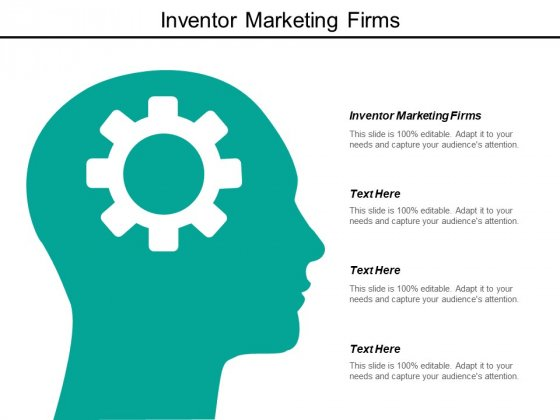 Inventor Marketing Firms Ppt PowerPoint Presentation Slides Graphics Pictures Cpb