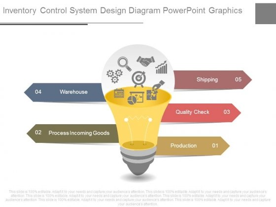 Inventory Control System Design Diagram Powerpoint Graphics