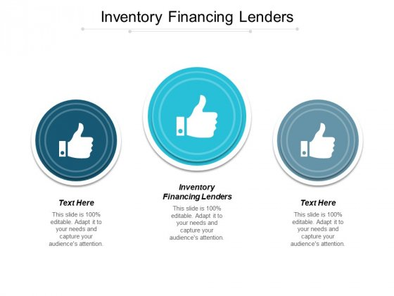 Inventory Financing Lenders Ppt PowerPoint Presentation Slides Visuals Cpb
