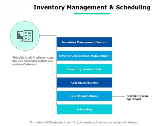 Inventory Management And Scheduling Ppt PowerPoint Presentation Gallery Example