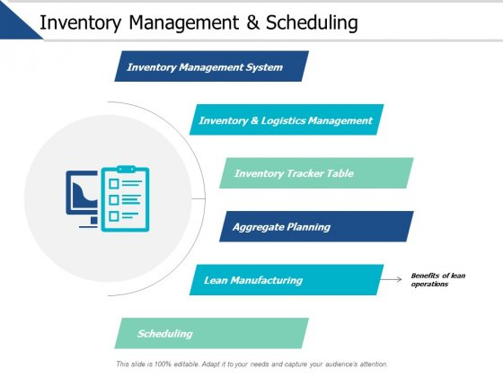 Inventory Management And Scheduling Ppt PowerPoint Presentation Pictures Slide Portrait