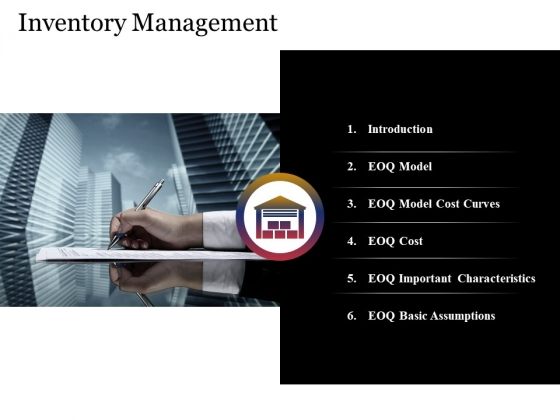 Inventory Management Template 1 Ppt PowerPoint Presentation Professional Graphics Example