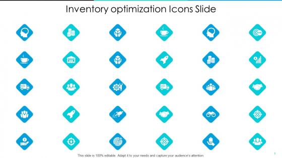 Inventory Optimization Inventory Optimization Icons Slide Ppt Show PDF