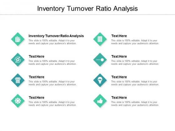Inventory Turnover Ratio Analysis Ppt PowerPoint Presentation Portfolio Graphics Example Cpb