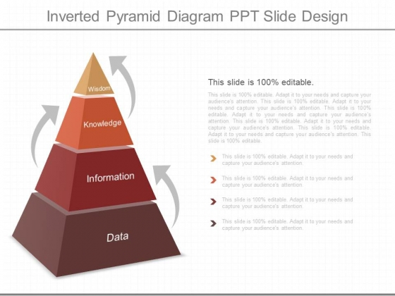 Inverted Pyramid Diagram Ppt Slide Design