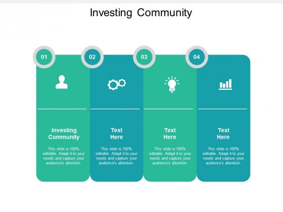 Investing Community Ppt PowerPoint Presentation Styles Backgrounds Cpb Pdf