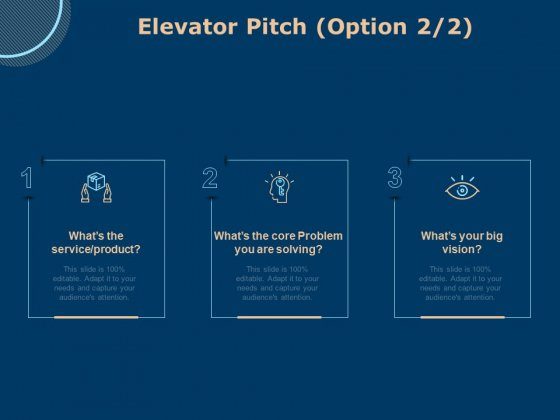 Investing In Start Ups Elevator Pitch Option Ppt Pictures Clipart PDF