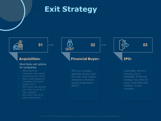 Investing In Start Ups Exit Strategy Ppt Icon Graphics Download PDF