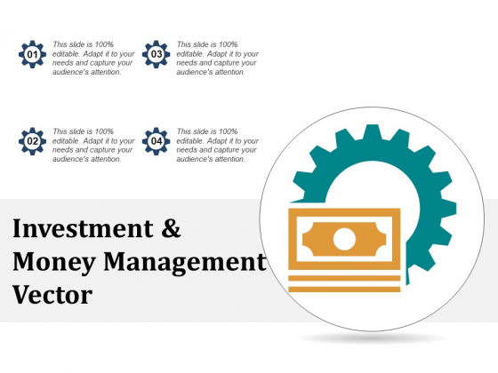 Investment And Money Management Vector Ppt PowerPoint Presentation File Graphics Tutorials