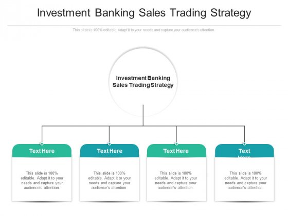 Investment Banking Sales Trading Strategy Ppt PowerPoint Presentation Pictures Deck Cpb Pdf