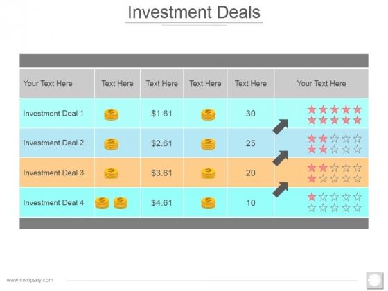 Investment Deals Ppt PowerPoint Presentation File Demonstration