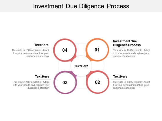 Investment Due Diligence Process Ppt PowerPoint Presentation Infographics Gridlines Cpb