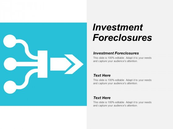 Investment Foreclosures Ppt Powerpoint Presentation Inspiration Images Cpb