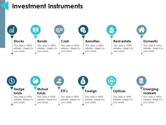 Investment Instruments Ppt PowerPoint Presentation Layouts Outline