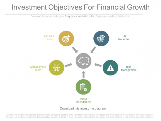 Investment Objectives For Financial Growth Ppt Slides