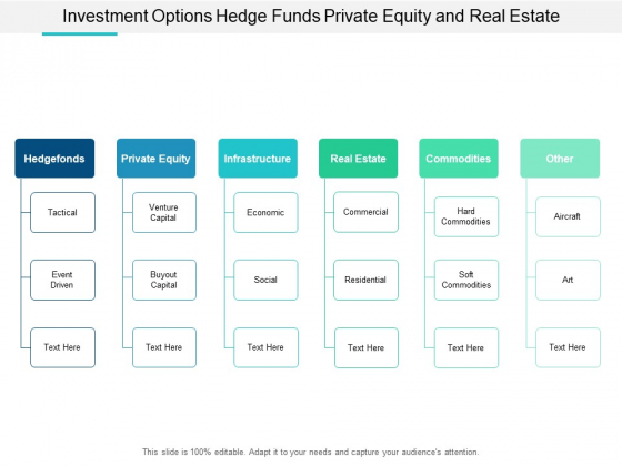 Investment Options Hedge Funds Private Equity And Real Estate Ppt Powerpoint Presentation Summary Guidelines