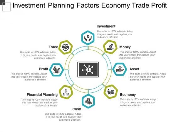 Investment Planning Factors Economy Trade Profit Ppt PowerPoint Presentation Ideas Slide