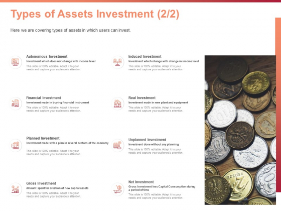 Investment Portfolio Asset Management Types Of Assets Investment Financial Ppt PowerPoint Presentation Gallery Guidelines PDF