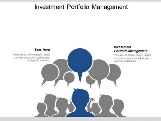 Investment Portfolio Management Ppt PowerPoint Presentation File Files Cpb