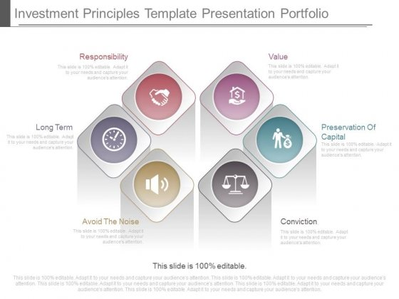 Investment Principles Template Presentation Portfolio