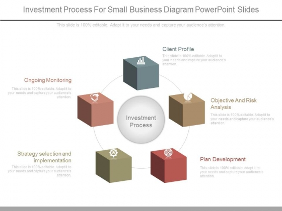 Investment Process For Small Business Diagram Powerpoint Slides
