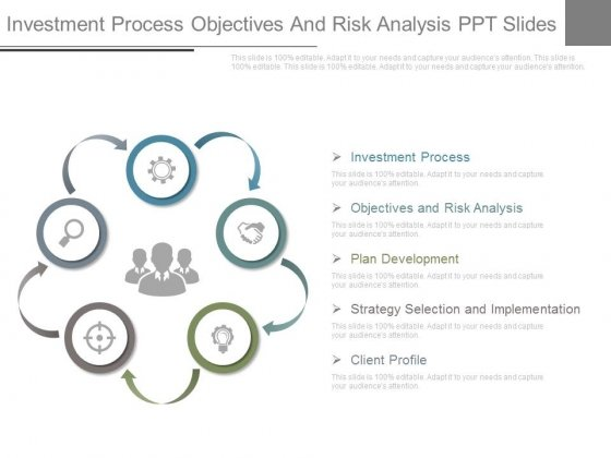 Investment Process Objectives And Risk Analysis Ppt Slides