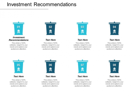 Investment Recommendations Ppt PowerPoint Presentation Gallery Rules Cpb