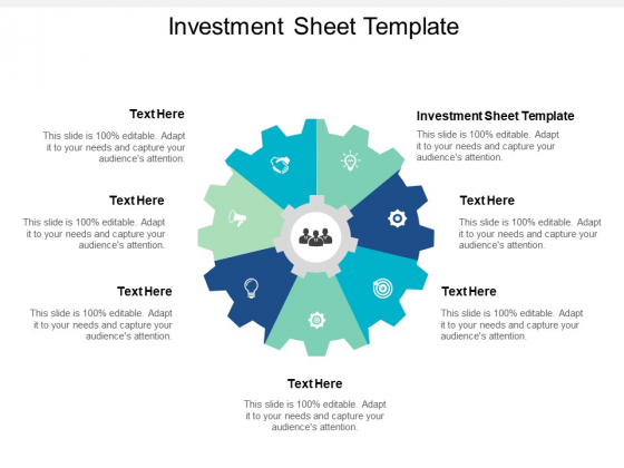 Investment Sheet Template Ppt PowerPoint Presentation Icon Inspiration Cpb